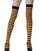 Black / Orange Striped Stockings