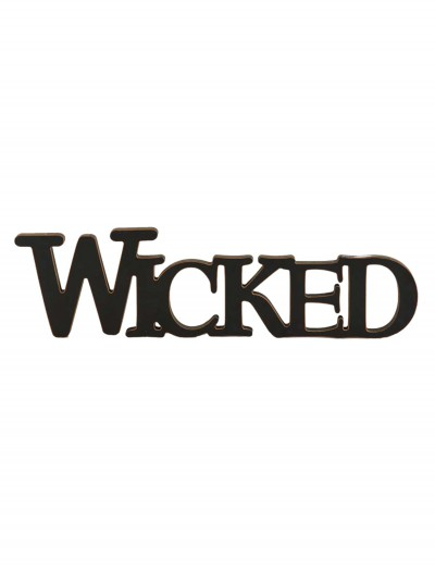 Black Wicked Cutout Sign
