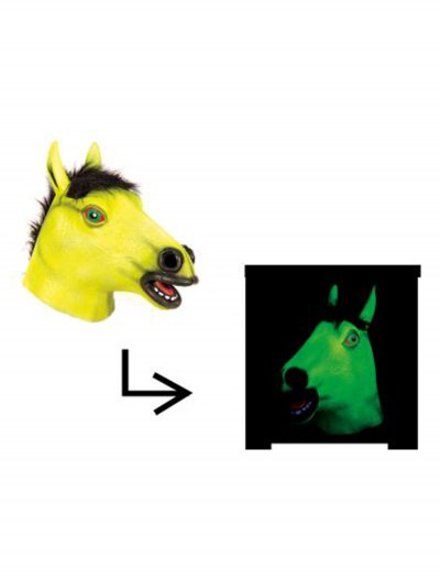 Blacklight Horse Mask