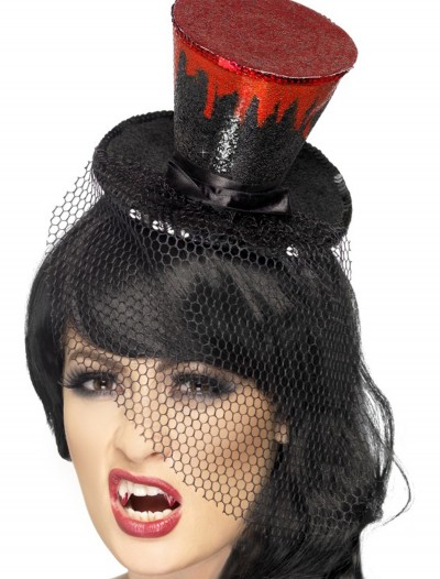 Blood Drip Mini Top Hat