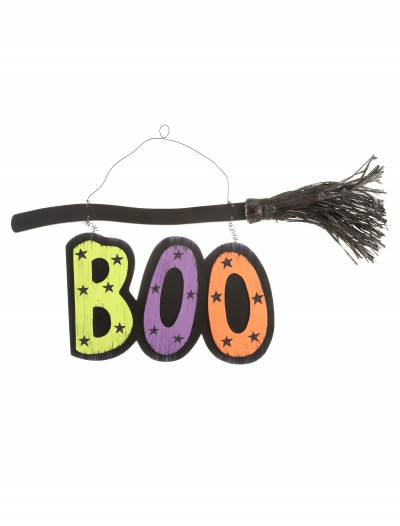 Boo Broom Sign