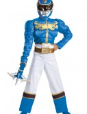 Boys Blue Ranger Megaforce Classic Muscle Costume