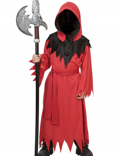 Boys Red Faceless Ghost Costume