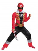 Boys Super Megaforce Red Ranger Muscle Costume