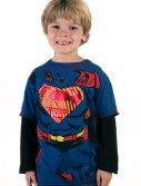 Boys Superman Longsleeve Costume T-Shirt