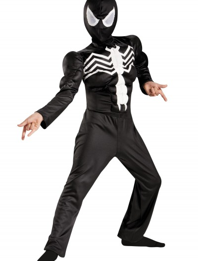 Boys Ultimate Black Suited Spider-Man Classic Muscle Costume