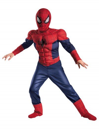 Boys Ultimate Spider-Man Classic Muscle Costume