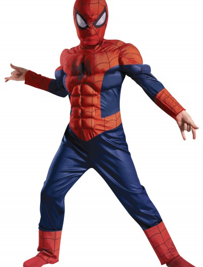 Boys Ultimate Spider-Man Muscle Light Up Costume