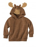 Brown Moose Face Hoodie