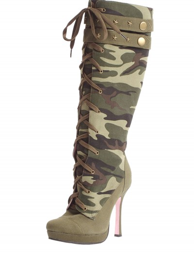 Camo Laceup Boots