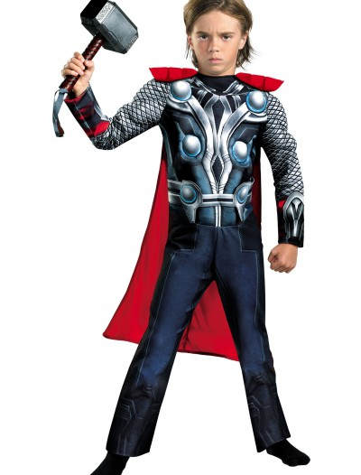 Child Avengers Thor Muscle Costume