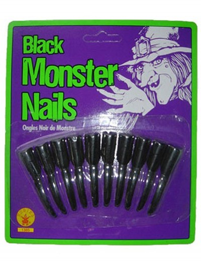 Child Black Witch Nails