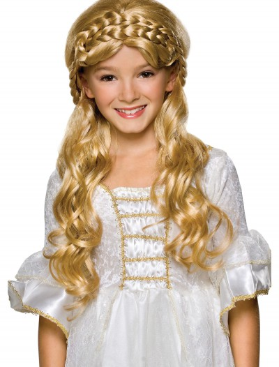 Child Blonde Enchanted Princess Wig