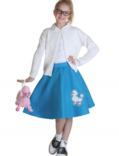 Child Blue 50s Poodle Skirt