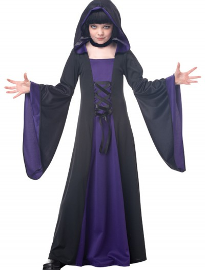 Child Purple Hooded Robe