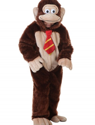 Child Brown Gorilla w/ Tie Costume
