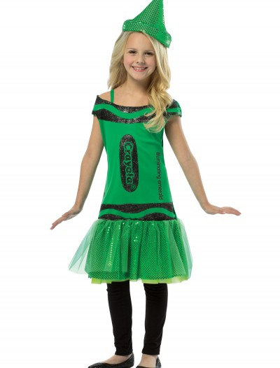 Child Crayola Glitz Emerald Dress