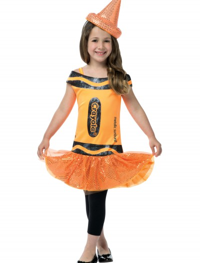 Child Crayola Glitz Orange Dress