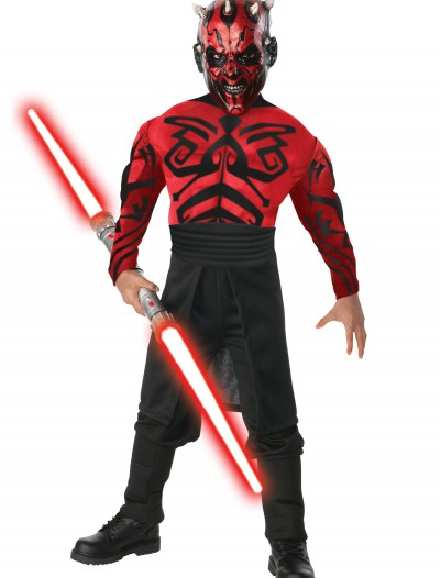 Child Deluxe Muscle Chest Darth Maul Costume