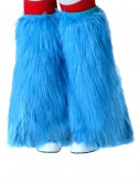 Child Light Blue Furry Boot Covers