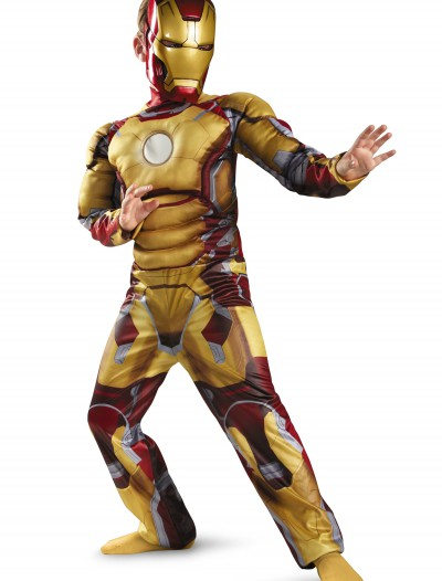 Child Muscle Iron Man Mark 42 Costume