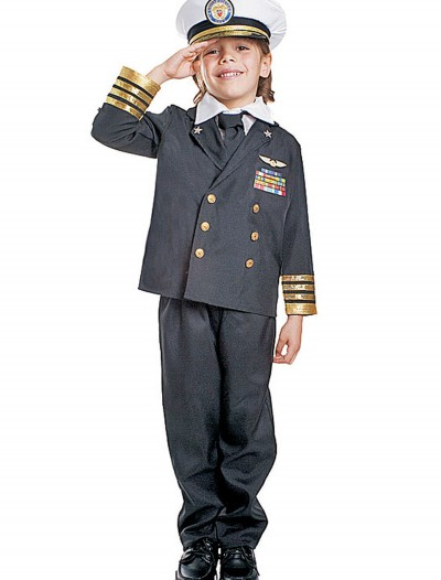 Kids Navy Admiral Costume
