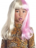 Child Pink and White Diva Wig