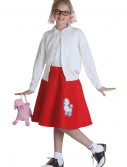Child Red 50s Poodle Skirt
