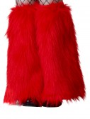 Child Red Furry Boot Covers