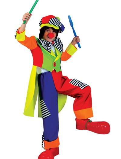Child Spanky Stripes Clown Costume