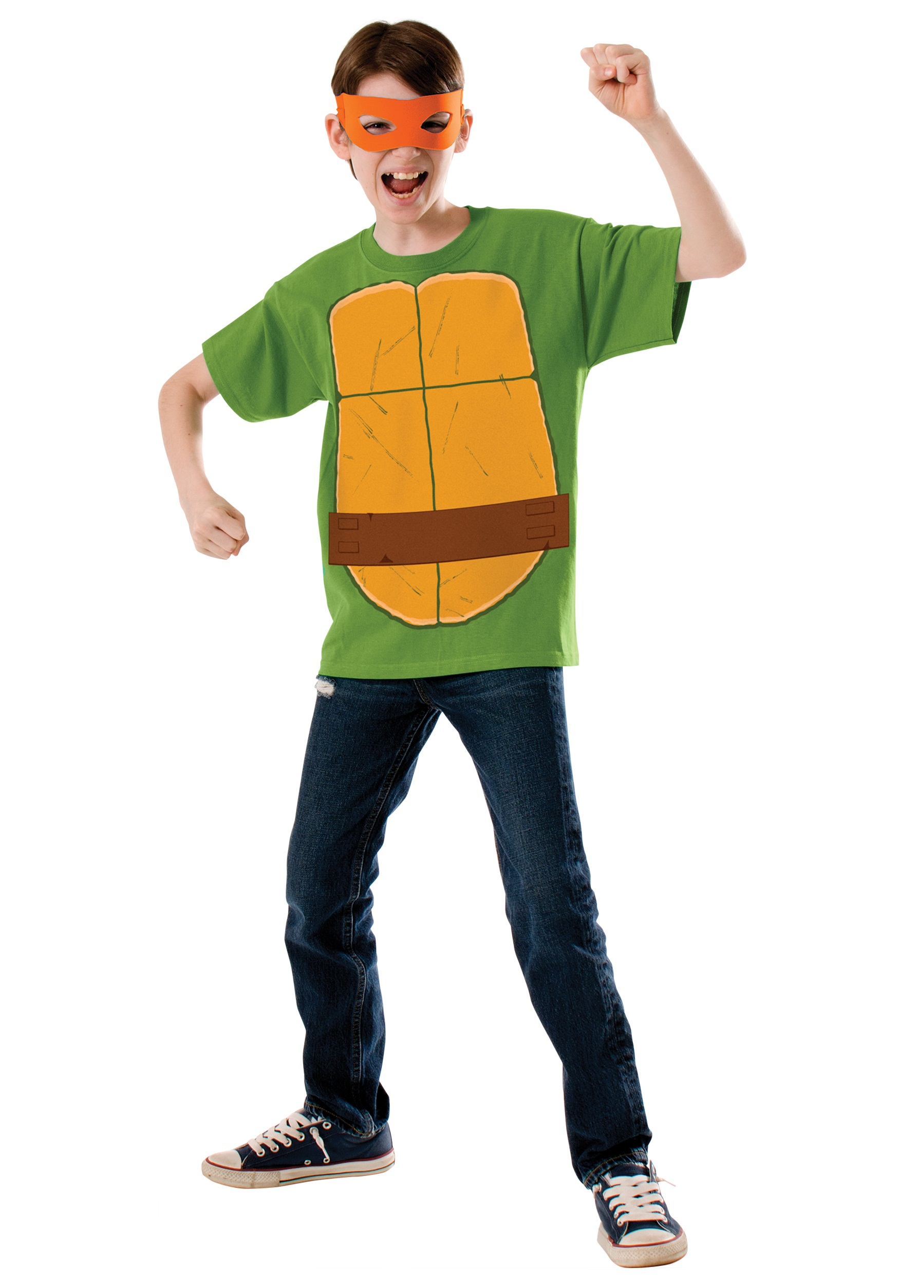 Child TMNT Michelangelo Costume Top