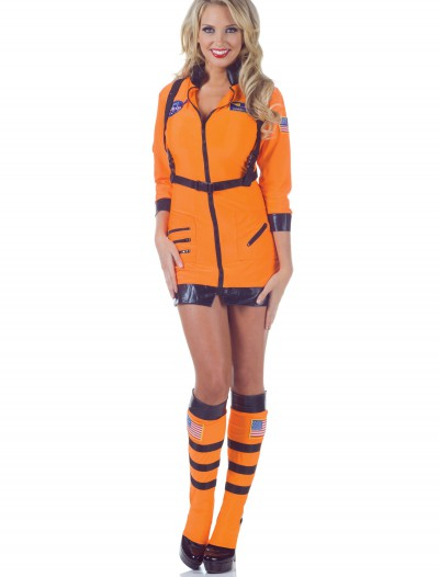 Cosmic Women's Orange Astronaut Costume