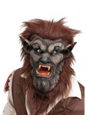 Deluxe Brown Wolf Man Mask