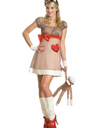 Deluxe Miss Sock Monkey Costume