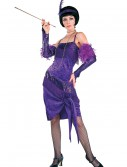 Fabulous Purple Flapper Costume
