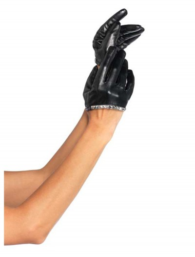 Faux Leather Cropped Gloves