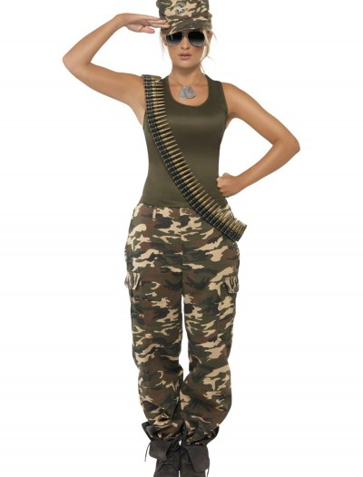 Female Khaki Camo Costume