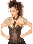 Fur Pelt Faux Leather Body Harness