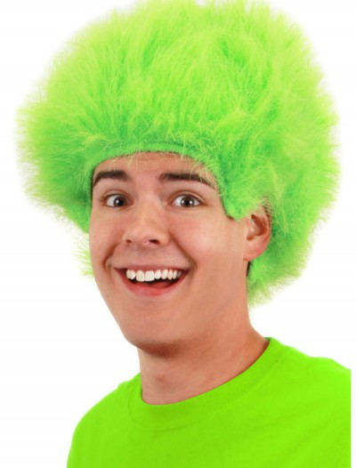 Fuzzy Lime Wig