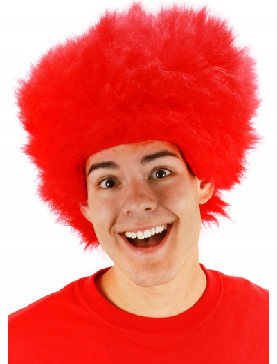 Fuzzy Red Wig