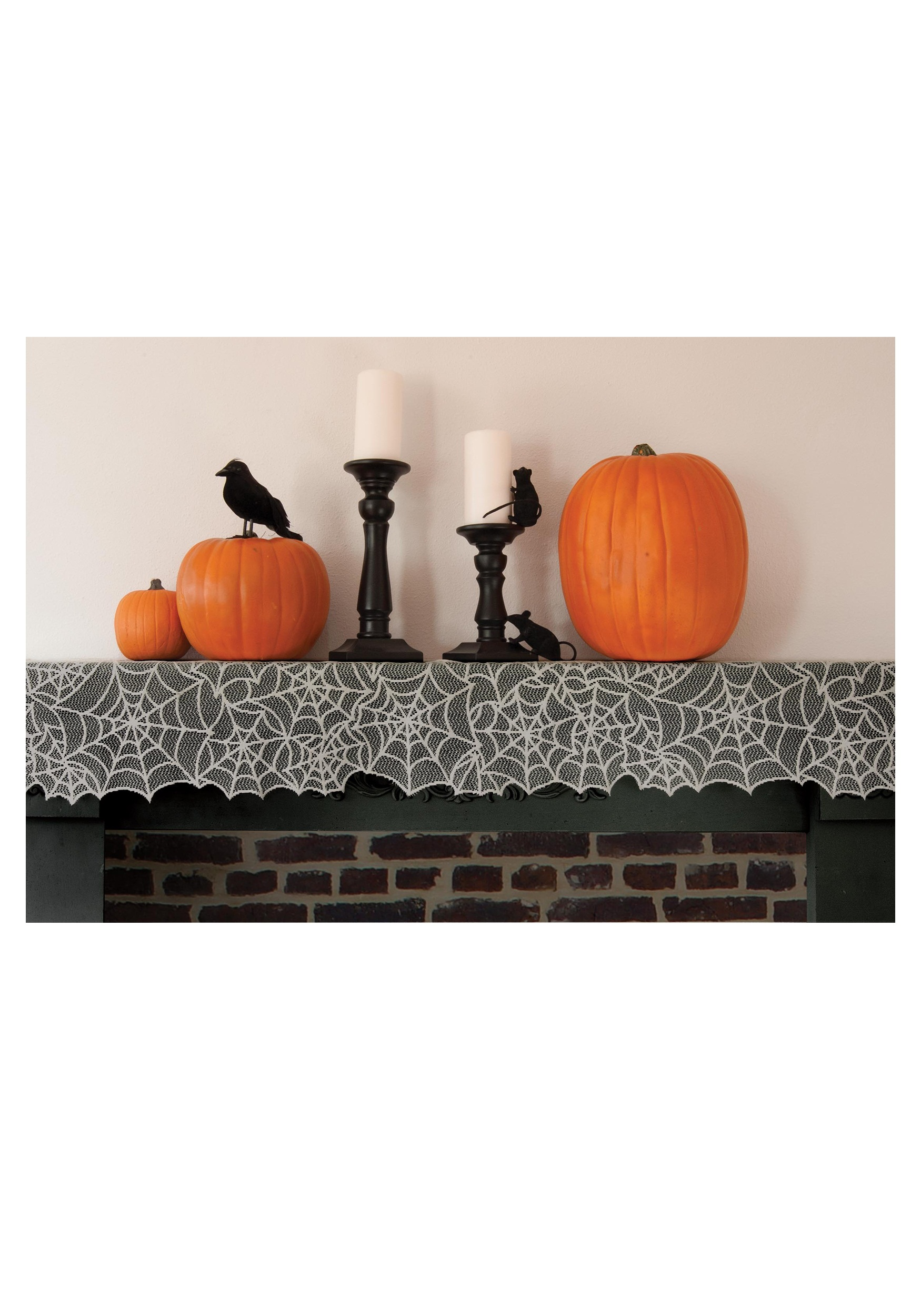 Ghostly Grey Spider Web Mantle Runner