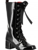 Girls Black Lace Up Gogo Boots
