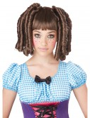 Girls Brunette Baby Doll Curls Wig with Bangs