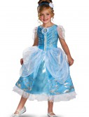 Girls Cinderella Sparkle Deluxe Costume