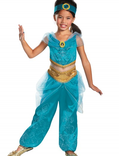 Girls Jasmine Sparkle Deluxe Costume