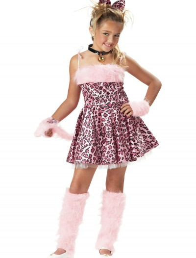 Girl's Pink Cat Costume