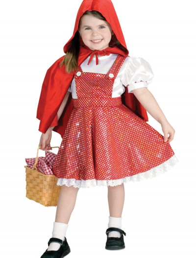 Girls Sequin Red Riding Hood Costume