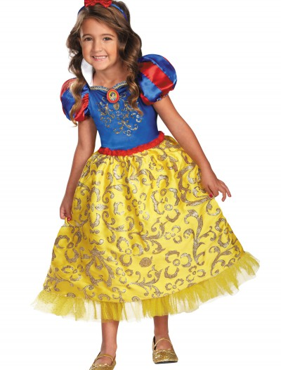 Girls Snow White Sparkle Deluxe Costume