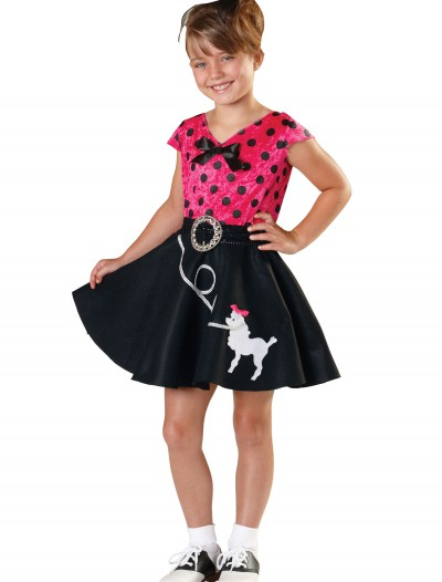 Girls Sock Hop Sweetie Costume
