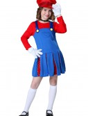 Girls Super Maria Costume